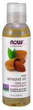 NOW Foods 100% pure moisturizing Sweet Almond Oil 4 oz. FRESH 04/2022 EXP