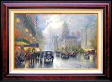 Rare! Thomas Kinkade, New York, Fifth Avenue 18x27 Dbl Sgnd, G/P