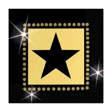 """""""HOLLYWOOD""""    Pack of 16 - Star Attractions Beverage Napkins!"""
