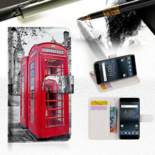"British Phone Booth Wallet Case Cover for Nokia 8 5.3"" A025"
