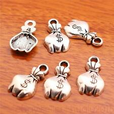10pcs 19*11mm Charms $ Money Bag Pendants Tibetan Silver Jewelry Necklace 7032H