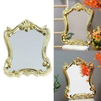 Puppenhaus Miniatur Spiegel Royal Wedding Gold Frame 1:12 Z2U8