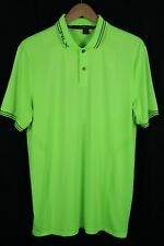 RLX Ralph Lauren Mens Sz Large Neon Green Short Sleeve Polo Shirt
