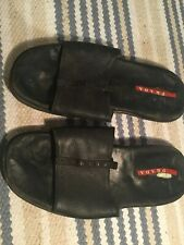 Mens Well Worn Prada Sandals Slippers Shoes Black Size Uk 9