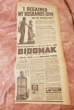 Bidomak Brain, Body & Nerve Builder 1941 Advertisement