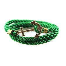 Rope Anchor Wristband Bracelet Handmade Multilayer Women Leather Men Bangle Gift