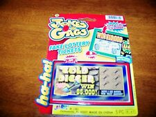 HOLIDAY PARTIES GAG GIFTS PRANKS  ONE PACK OF 5 FAKE WINNING LOTTERY TICKETS