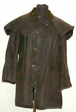 VINTAGE COUNTRY CLOTHING LAT 50 WAX  STOCKMAN SHORT COAT SMALL BROWN