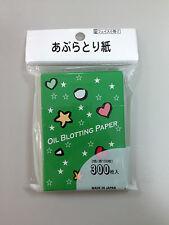 DAISO JAPAN OIL BLOTTING PAPER 300 PCS (3 COLORS) MADE IN JAPAN
