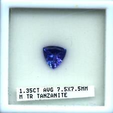 Tanzanite Trillion Cut 1.35 Carats Natural AAA  D Block Gem Quality