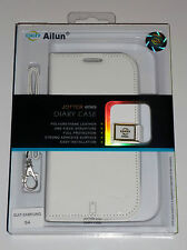 Ailun Luxury Side Flip Wallet style Case for Samsung Galaxy S4 i9500 - White