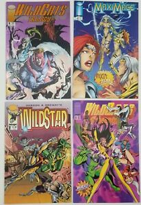 N) Lot of 4 Image Comic Books Wildstar Wildcats MaxiMage