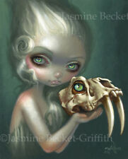 Jasmine Becket-Griffith art print SIGNED Resurrected: Saber-Toothed Cat