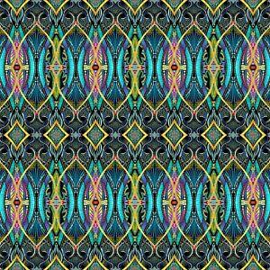 Blue Duets Fabric - 12354B-55 - Paula Nadelstern - Benartex