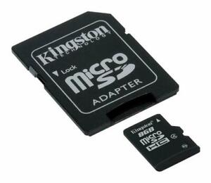Kingston Class 4 8 GB MicroSDHC Memory Card (SDC4/8GB)