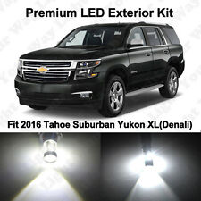 6 x Xenon White LED Fog Reverse Tag Lights For 2016 2017 Tahoe Suburban Yukon XL
