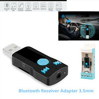 3in1 USB Bluetooth Receiver Adapter 3.5mm Stereo Audio Receiver&Adapter Speakers