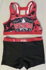 "Authentic 2 piece Girls Cheerleader Uniform: ""Stars"" (Corona, Ca)."
