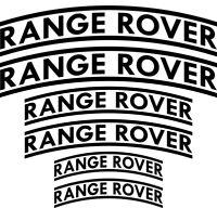 Compatible RANGE ROVER HI-TEMP PREMIUM BRAKE CALIPER  STICKERS CAST VINYL