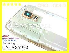 FRAME TELAIO SCOCCA CORNICE DORATA ORO GOLD x SAMSUNG GALAXY S5 G900F G900 I9600