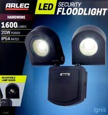 Arlec 20W LED Twin 2 x Security Floodlight Adjustable Flood Lamp Daylight Light