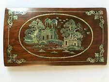 Chinese mother of pearl wooden Panel Nice Orient Garden View