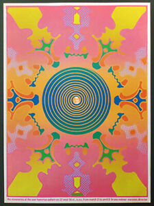 Peter Max/RARE ORIG. EARLY Poster/1967/Psychedelic Art/Swami Satchinananda/Yoga
