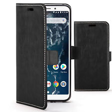 Xiaomi Mi A2 Case Cover by FC® - PU Leather Wallet Stand - Black + Stylus