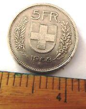 Dated : 1968 Coin - Switzerland - 5 Swiss Francs - 5 FR - Helvetica