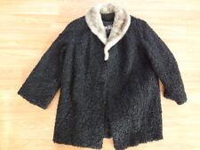Nice Black Persian Lamb and Mink Fur Coat