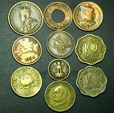 BRITISH INDIA - PRINCELY STATES - REPUBLIC INDIA 10 COINS LOT - RARE COLLECTION