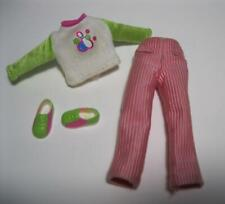 "vtg 90S MATTEL 7"" Stacie Doll Clothes-Bowling Party Graphic Shirt/Pink Pant/Shoe"