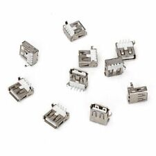 10pcs USB Type-A Socket 90-Degree Female Connector Jack for Repair LW