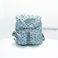 Kipling Ki0367 Fiona Travel Backpack Polyamide Fan Florals Blue Purple Multi