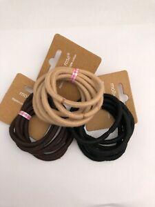 Snag Free Hair Elastics/Bobbles 3 Natural Colours