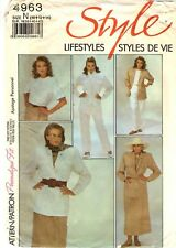 Style Sewing Pattern Women's SUIT JACKET SKIRT PANTS TOP 4963 Sz 10-12-14 UNCUT
