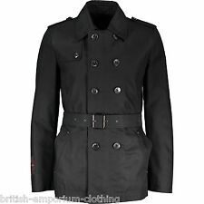 JOHN RICHMOND Short Black Padded Belted Rain Coat BNWT UK44 IT54 Made In Italy