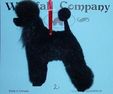 Black Standard Poodle Dog Plush Faux Fur Canine Christmas Ornament # 2 by WC