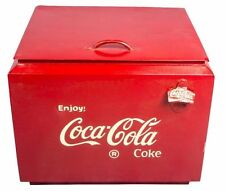 Vintage 1950's Antique Drink Coca-Cola In Bottles Cooler Cold Box HB 0106