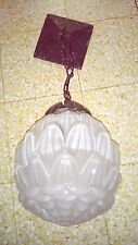 LAMPE GLOBE ANCIENNE LUMINAIRE ART DÉCO diam: 19 cm haut : 52cm opaque brillante