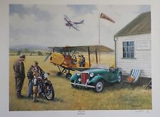 """MG-TD"" Car Art RARE KEVIN WALSH PRINT Aero Club LTD EDITION #142 of 850 25""x18"""