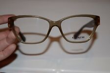 New COACH HC 6088 Demo Eyeglass Frames - Olive/Dark Tort Gold Sig C (52-15-135)