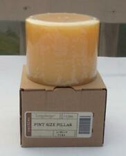 "New Longaberger Pint Size Pillar Candle Ginger Pear 3 1/2"" No.2"