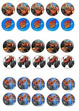 BLAZE AND THE MONSTER MACHINE EDIBLE RICE WAFER PAPER CUP CAKE TOPPER X30