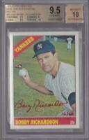 BOBBY RICHARDSON 2015 TOPPS HERITAGE REAL ONE RED INK AUTO #12/66 BGS 9.5 / 10