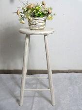 alter Holz-Hocker/Blumentisch creme-weiß im Shabby-Look Landhaus
