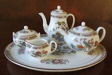 Wedgwood Kutani Crane Miniature/Mini 8 Piece Tea/Coffee Set England