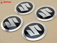 4X Aluminum Fuel Gas Tank Badges Emblem Decal Sticker for Suzuki 5.5cm Dia.