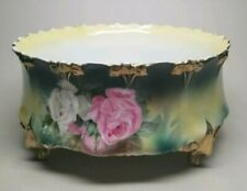 Rs Prussia Ferner Planter Jardiniere Pot Bowl Roses Footed Antique Sawtooth Mold