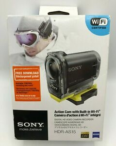 SONY HDR-AS15 Action Cam - Digital Camera - WiFi 1080p FULL HD - ZEISS - SEALED